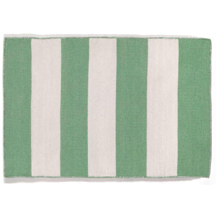 Chic Indoor Outdoor Stripe Rugs 6 Colors Available: Rugby Stripe Aqua Flat Weave Indoor Outdoor Rug