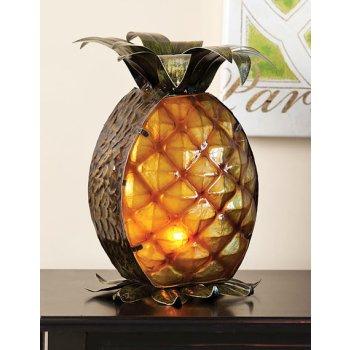Glass And Metal Pineapple Lamp