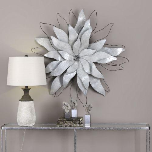 uttermost picking petals galvanized wall art. Black Bedroom Furniture Sets. Home Design Ideas