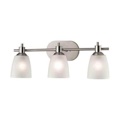 Cornerstone Jackson 3 Light Bath Bar In Brushed Nickel