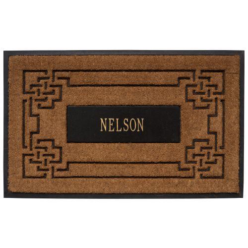 Whitehall Coir Knot Doormat Mat Personalized Cast: Whitehall Personalized Sailor's Knot Personalized Coir Mat