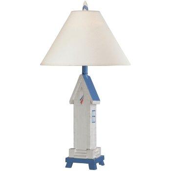 Beach hut ocean blue table lamp aloadofball Choice Image