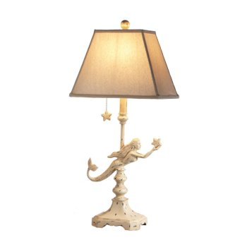 Mermaid With Starfish Table Lamp