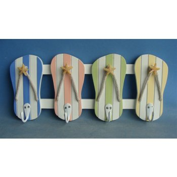 sc 1 st  Beach Decor Shop & Colorful Flip Flop Wall Hooks