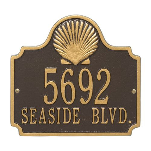 Personalized Conch Plaque, Bronze / Gold