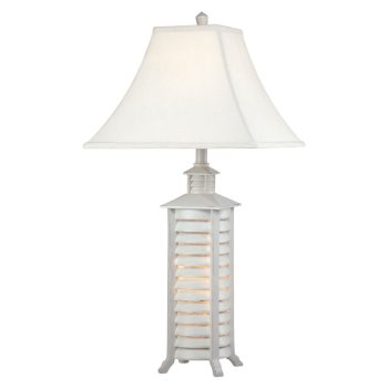 Shutter Table Lamp with Night Light