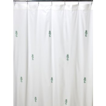 Seahorse Embroidered Shower Curtain