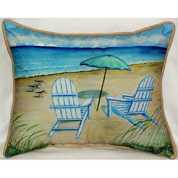 Adirondack Chairs Indoor / Outdoor Pillow - Beach Décor Shop