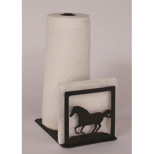 Coastal lamp iron running horse short paper towel napkin - Coastal napkin holder ...
