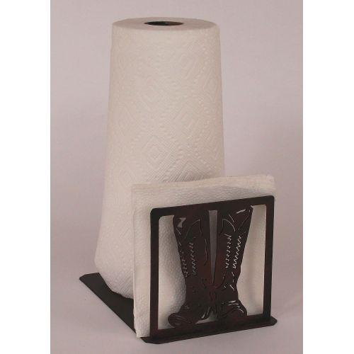 Coastal lamp iron boot short paper towel napkin holder - Coastal napkin holder ...