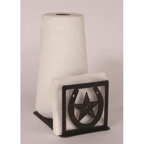 Coastal Lamp Iron Horseshoe Star Short Paper Towel Napkin Holder