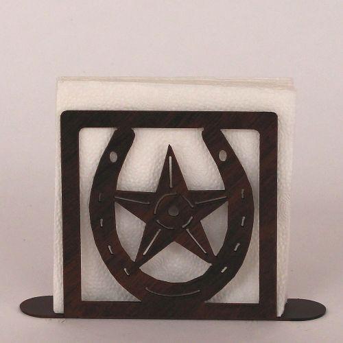 Coastal lamp iron horseshoe star napkin holder - Coastal napkin holder ...