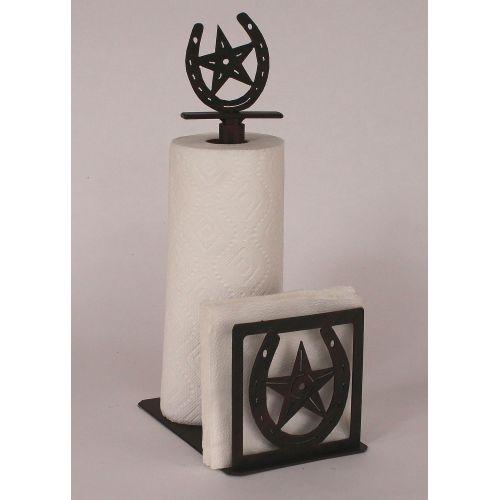 Coastal lamp iron horseshoe star paper towel napkin holder - Coastal napkin holder ...