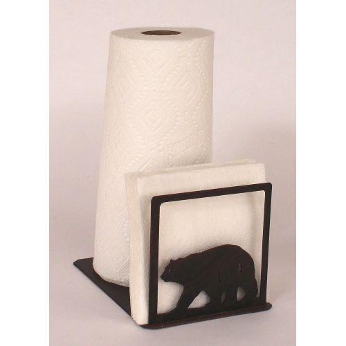 Coastal Lamp Iron Bear Short Paper Towel Napkin Holder