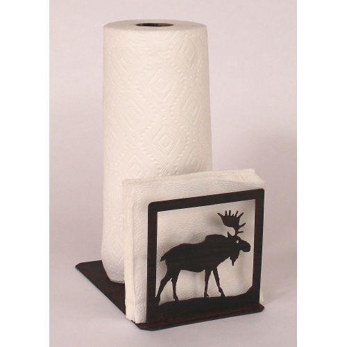 Coastal lamp iron moose short paper towel napkin holder - Coastal napkin holder ...