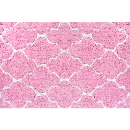 Pink Clouds Table Tuft Shag Rug
