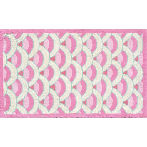Chi-Lin Pink Flannel Rug
