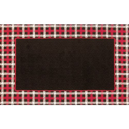 Cable Plaid Border Blk Red Hook Amp Tufted Rug