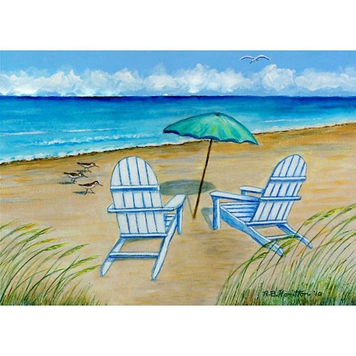 Outside Beach Wall Decor: Betsy Drake Adirondack Chairs Outdoor Wall Hanging 24x30