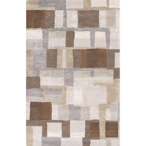 Jaipur Contemporary Abstract Pattern Gray Brown Wool And