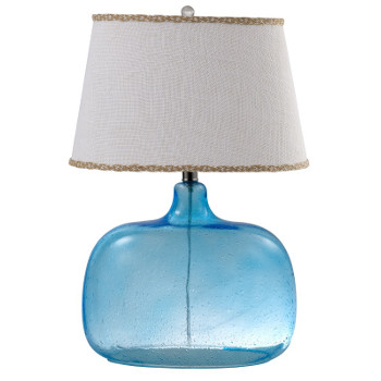 Ocean Blue Glass Table Lamp