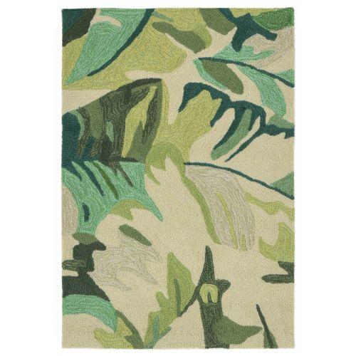 trans ocean liora manne capri palm leaf indoor outdoor rug green 20 x30. Black Bedroom Furniture Sets. Home Design Ideas