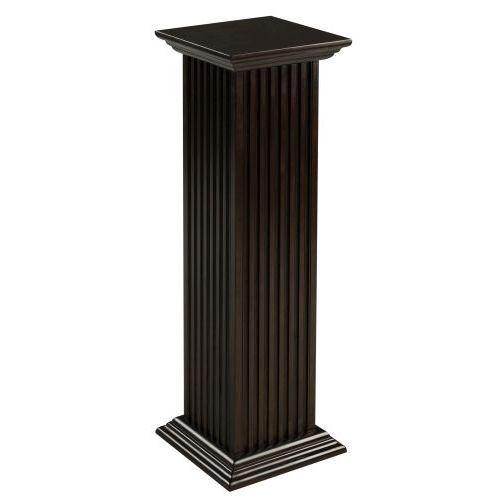 Cooper classics square fluted pedestal for Fluted pedestal base