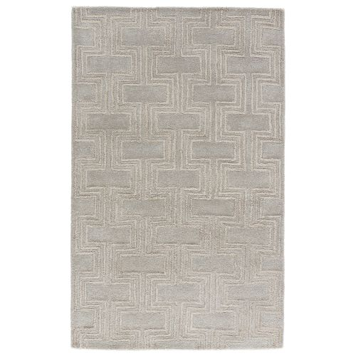 Gray Area Rug 8x11: Jaipur Contemporary Geometric Pattern Gray/Neutral Wool