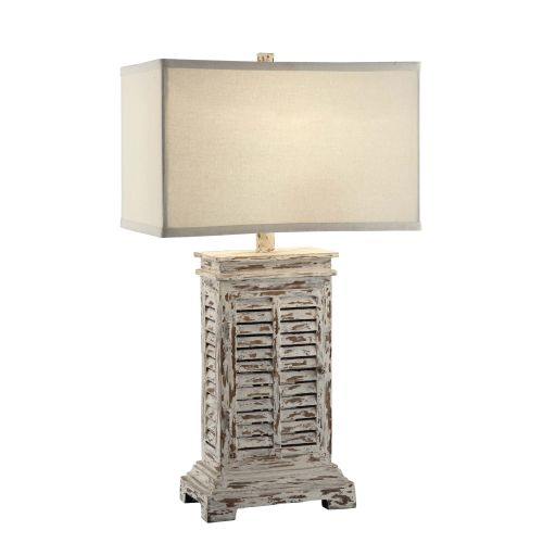 Shutter Table Lamp : Crestview collection antique shutter table lamp