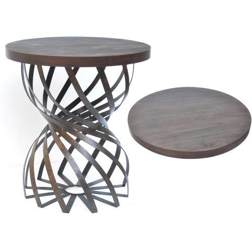 Crestview collection oak brook spiral metal table for Table 52 oak brook