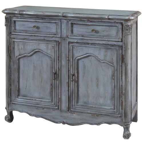 Distressed Kitchen Cabinet Doors: Crestview Collection Harrison Distressed Grey 2 Door Cabinet