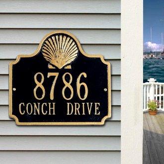 Scallop Shell Address Plaque