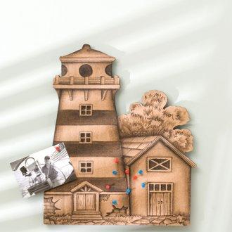Cork Lighthouse Wall Decor with Tacks