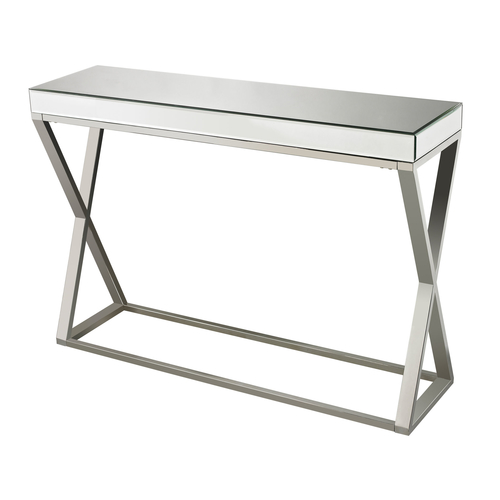 Klein mirror and stainless console table - Table console miroir ...