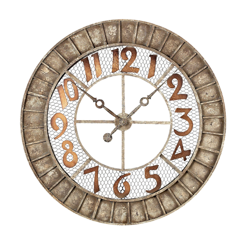 Round Outdoor Wall Decor : Round metal outdoor wall clock