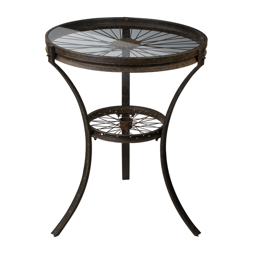 Railroad Industrial Style Side Table