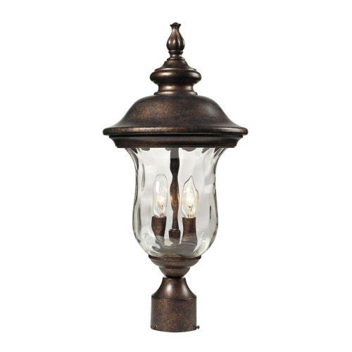 Outdoor Post Light Replacement Glass: Elk Lighting Lafayette 2 Light Outdoor Post Lamp In Regal