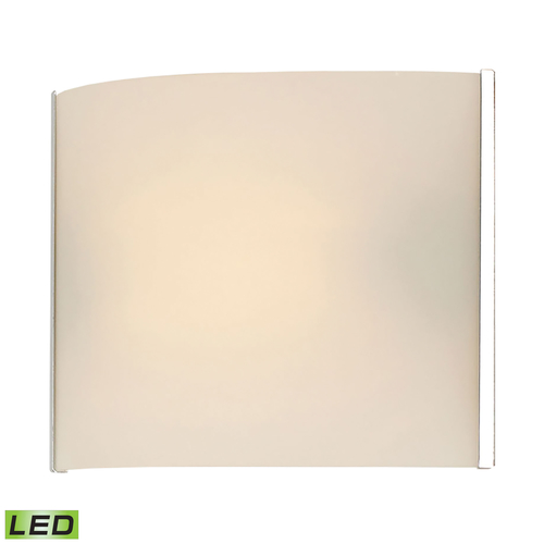 Pannelli LED 1 Light Vanity In Chrome And Hand Moulded Opal White Glass