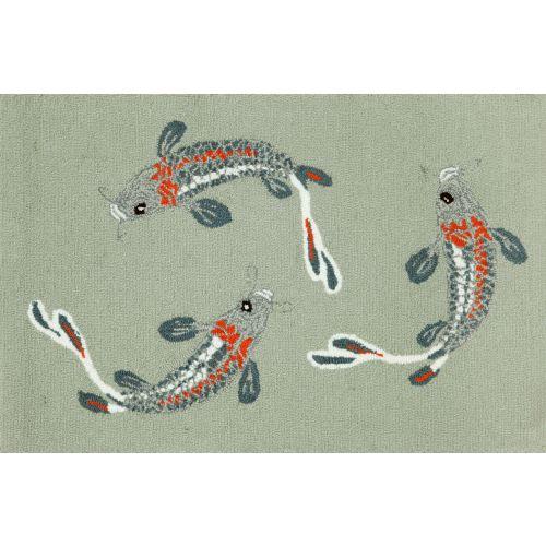 Trans-Ocean Liora Manne Frontporch Koi Fish Indoor/Outdoor