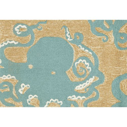 Trans Ocean Liora Manne Frontporch Octopus Indoor Outdoor Rug Blue