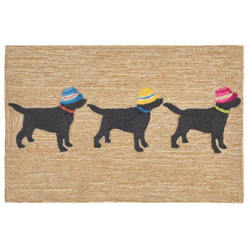 Dog On The Rug: Trans-Ocean Liora Manne Frontporch 3 Dogs Vacation Indoor