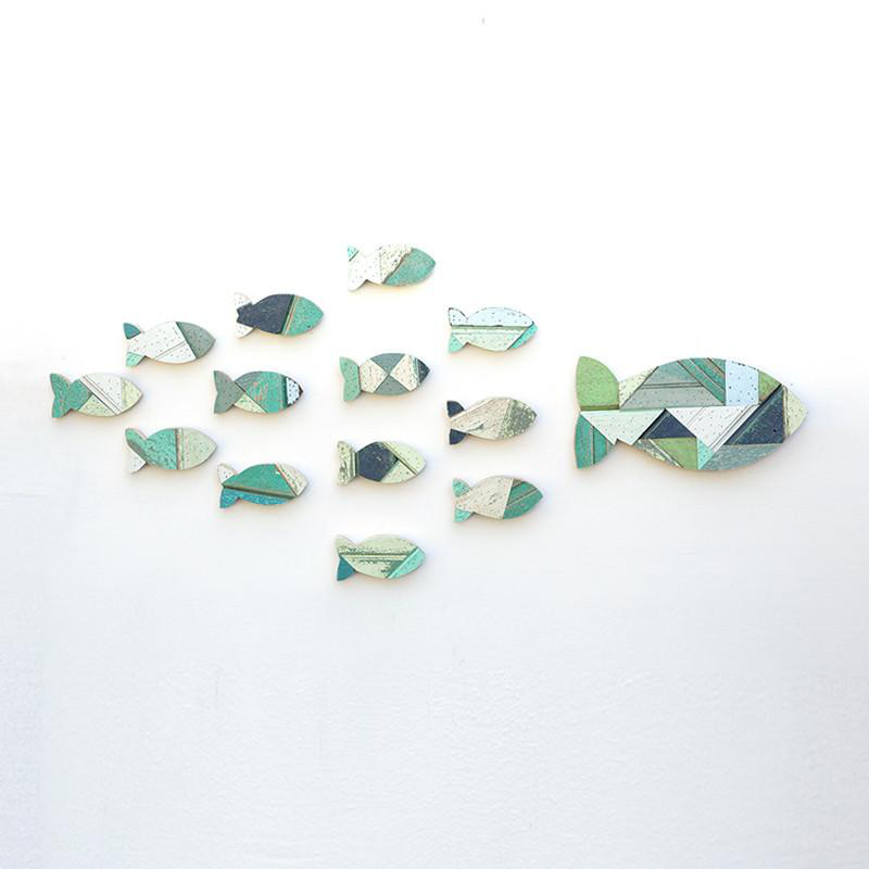 Salvage Wood School of Fish
