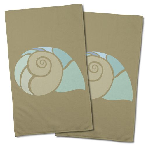 Island girl andros nautilus shell hand towel set of 2 for Andros kitchen bath designs