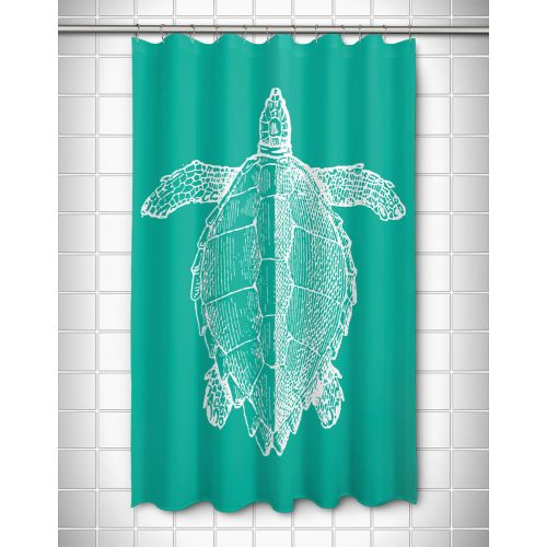 Island Girl Vintage Sea Turtle Shower Curtain