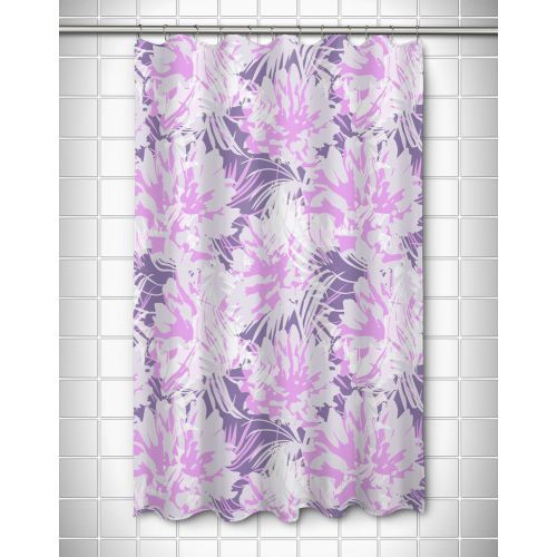 island girl purple floral fusion shower curtain. Black Bedroom Furniture Sets. Home Design Ideas