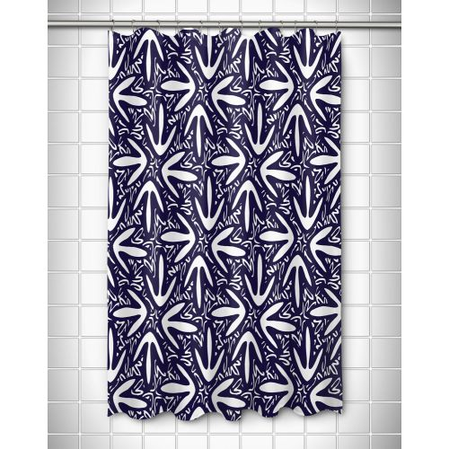 Island Girl Tribal Lagoon Navy Shower Curtain