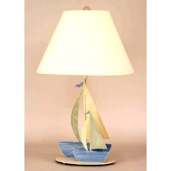 Iron Double Sailboats Table Lamp