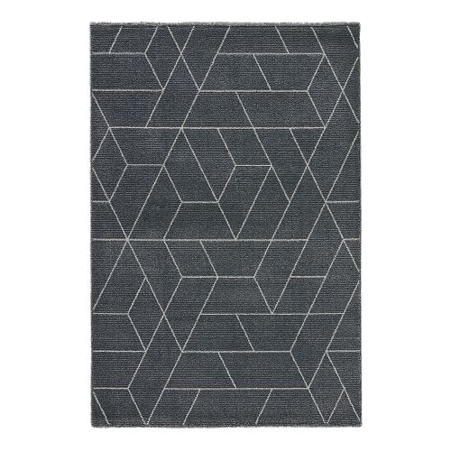 Jaipur Geometric Pattern Gray White Wool Polyester And