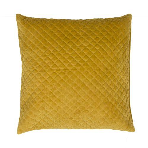 Modern Gold Pillows : Jaipur Modern/Contemporary Pattern Yellow/Gold Cotton Down Fill Pillow ( 22