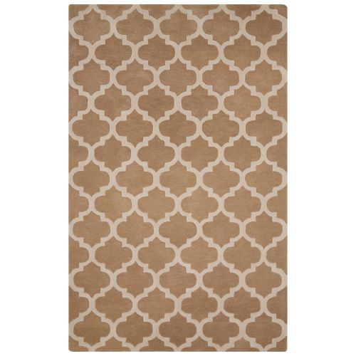 Jaipur Contemporary Trellis Chain And Tile Pattern Beige